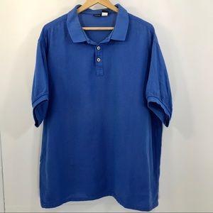 Patagonia Blue Cotton Mesh Polo XL